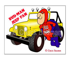 Fridge Magnet Bud Man Jeep Fan 4X4 art beer bar art decor