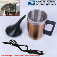 12V Car Headlight Lens Repair Polishing Tool Restorer Atomization Heated Cup-USA