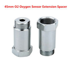 45mm Nickel Plated Straight O2 Oxygen Sensor Extension Spacer CEL Fix- M18x1.5