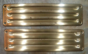 """2 NOS Vintage Steel Vent Covers 10 3/8"""" USA Mfg by Washington Steel Products"""