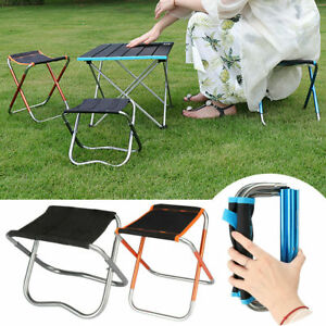 Portable Aluminum Folding Chair Outdoor Fishing Beach Camping Picnic Stool Seat