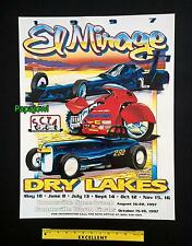 El Mirage Dry Lake Bed 1997 Poster SCTA Roadster Motorcycle Bonneville Salt Flat