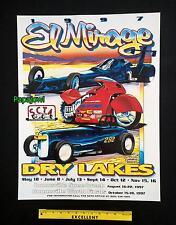 El Mirage Dry Lake Bed 1997 Poster SCTA Roadster Motorcycle Bonneville Salt Flat
