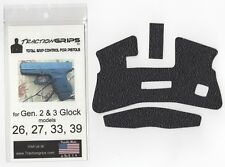 Tractiongrips rubber grip overlay decal for Generation 3 Glock 26, 27, 33, 39