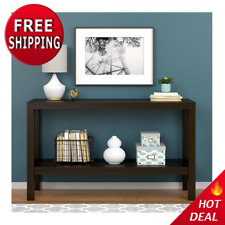 Parsons Console Table Sofa Espresso Kitchen Entryway Office Storage Furniture