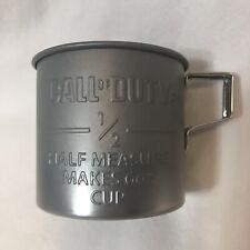 Call of Duty WWII Tin Military Coffee Mug Half Measure Makes 6 OZ Cup WW2 2017