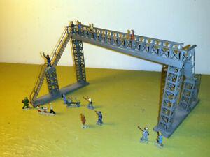 Märklin Dahmer H0 00 800 Metall Blech Brücke und Metallguß Figuren 50er