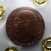 """10 centesimi 1937 """"Impero"""" -FDC Eccezionale Rame Rosso - Perizia F.Cavaliere"""