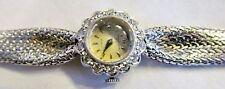 Superb 14K Solid Gold Baume & Mercier Ladies 1.4 Carat Diamond Mesh Wrist Watch