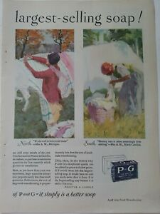 1929 P & G  soap Black Americana woman kerchief laundry basket vintage ad