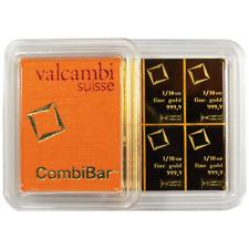 10 x 1/10 oz Valcambi Suisse .9999 Fine Gold CombiBar 1 Troy oz