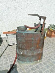 """Antique Vintage Agriculture Copper huge Sprayer can 22"""" pump herbicide 30's"""