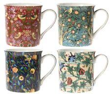 Leonardo Collection Set of 4 China Coffee Mugs William Morris Mugs 1834-1896