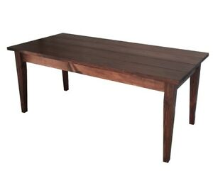 Red Mahogany Harvest Table (Rustic Harvest Farmhouse Kitchen Dinning Table)