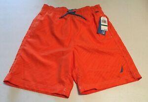 NAUTICA Boy's Swim Trunks Board Shorts Swimwear  SIZE - L (14-16)  Papaya  NWT