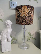 Handmade Drum Lampshade Morris & co Strawberry Thief  Grape and Gold 20cm size