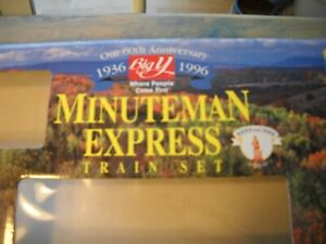 1996 BIG Y LIMITED EDITION Electric Train Set HO Scale Minuteman Express Nice!
