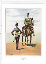 THE ROYAL ARTILLERY IN 1897..MILITARY PRINT