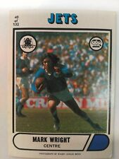 1976 Scanlens Rugby League Card #40 Mark Wright Newtown Jets NRL footy