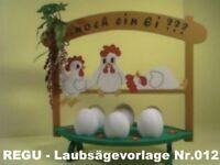 """REGU - Laubsägevorlage Deko """"schlafende Hühner"""" Nr .012 - einfache Bastelvorlage"""