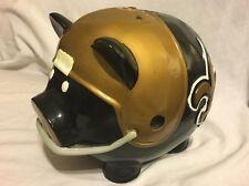 PIG LEAGUERS NFL New Orleans Saints Black Gold Football Piggy Bank