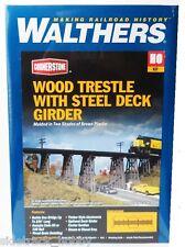 HO Scale Walthers Cornerstone 933-3147 Wood Trestle w/Deck Girder Bridge Kit