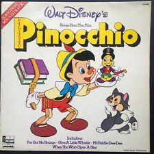 PINOCCHIO Film Soundtrack LP Leigh Harline Paul J. Smith [Disney] Ned Washington