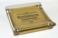 Age Cashtrays Advertisement Old Advertising Plate Savings Bank Lauterecken Pfalz