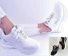 Damen Schuhe Sneaker Weiß Schwarz Glitzer Sport Freizeitschuhe Keilabsatz Neu