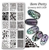 BORN PRETTY Nail Art Stamping Plate Goemetry Image  Template BPX-L020
