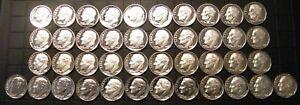 1968~2009 S Roosevelt Dime Gem Proof Run 42 Coin Run Set US Mint Lot