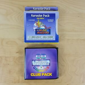 MUSIC MAESTRO FROM BROADWAY TO HOLLYWOOD KARAOKE CDG 5 DISCS 90 TRACKS BRAND NEW