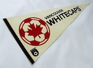 "VINTAGE NASL VANCOUVER WHITECAPS SOCCER PENNANT, 1978 FULL-SIZE 30"", NEAR MINT"