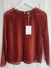 Jigsaw Animal Red Velvet Devore Spot Top Size 10 RRP £110