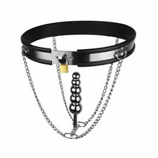NEW Brand Adjustable Stainless Steel Female Chastity Belt Device With Plug