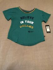 Tommy Hilfiger Girls Short Sleeve Shirt Crew Neck Green Size 6 New With Tags