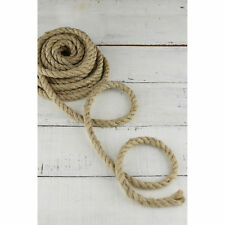 Natural Jute Rope Strong Twisted Decking Cord Garden Sash Camping 6mm - 60mm