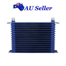 Engine/Transmission Racing Oil Cooler Blue 15-Row 10AN Powder-Coated Aluminum
