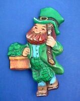 Candle Leprechaun w//pot O/'Gold Irish lucky Christmas #871 boxed hanging balls