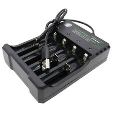Smart Battery Charger Li-ion Rechargeable 4 slots USB Plug for 10440 14500 18650