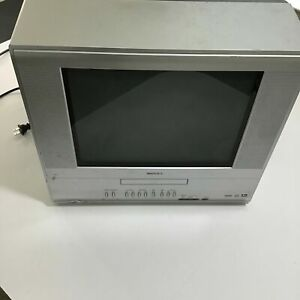 "Toshiba 14"" Flat CRT Tube TV/DVD Player  (Working 100%) MD14F51"