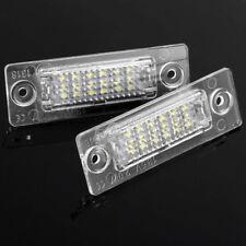 2 Bulbs LED License Number Plate Light For VW T5 Touran Golf Jetta Passat Caddy