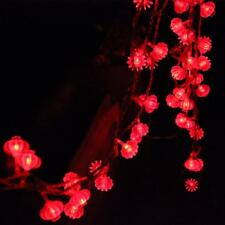 Traditional red lantern led string light 4M with 40pcs leds battery operated