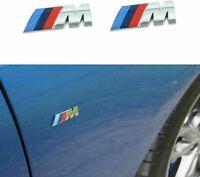 1 M Tri Color Fender Side Emblem Logo Decal Badge Sticker Compatible for BMW