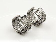 unique gray crystal rhodium ring C shape hook earrings fashion accessory R10