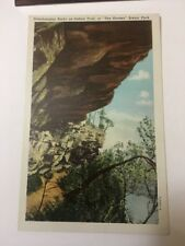 Vintage Postcard Linen Unposted Overhanging Rocks The Shades Scenic Park IN