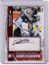 PAYTON LEE 13/14 ITG BTP Between Pipes Goaliegraph Rookie Auto Autograph #A-PL