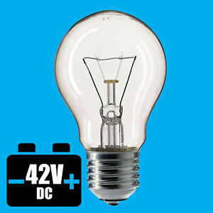 6x 100W 42V Low Voltage GLS Clear Dimmable ES E27 Edison Screw Light Bulb Lamp