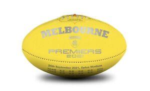 AFL MELBOURNE DEMONS SHERRIN 2021 PREMIERS FOOTBALL Yellow - Gawn Petracca