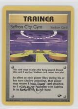 1999 Pokemon Challenge Base Set Unlimited #122 Saffron City Gym Card 2f4